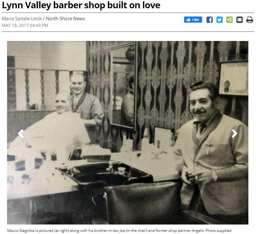 Lynn Valley barber shop built on love